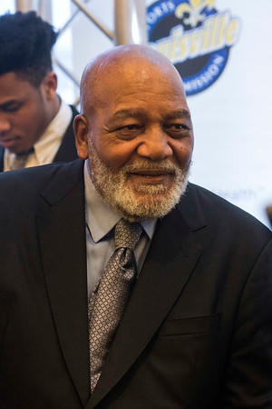 NFL hall-of-famer Jim Brown was one of the special guests at the annual Paul Hornung awards on Wednesday night. 3/7/18