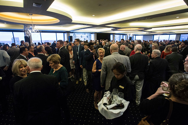 It was standing room only in the Waterford room at the Galt House on Wednesday as a VIP reception was held before the annual Paul Hornung awards. 3/7/18