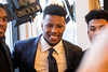 Penn State running back Saquon Barkley greeted fans during a VIP reception at the Galt House before being honored with the Paul Hornung award on Wednesday night. 3/7/18