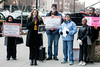 The AROS group (Alliance to Reclaim Our Schools) held a press conference on Thursday afternoon to protest SCALA (the Steering Committee for Action on Louisville's Agenda) and its eyeing of the local school system. 3/8/18