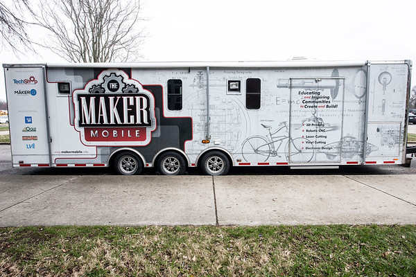 The Maker Mobile made an appearance at the KDF RoboRumble Regional Robot Competition at Moore High on Saturday. The 32-foot long trailer providess hands-on technology and engineering lessons and boasts a 3D printer. 3/10/18