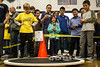The Sumobot competition at the KDF RoboRumble Regional Robot Competition drew eager participants and spectators to the battle areas staged in the Moore High gym on Saturday. 3/10/18