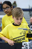 Stopher Elementary teammates RJ Toe and Maanya Sunkara watch as their robot navigates the RXC challenge. 3/10/18