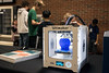 A 3D printer on display at the KDF RoboRumble Regional Robot Competition showed students the science behind the magic. 3/10/18