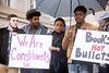 A group of Fern Creek students spoke during a rally in Frankfort on Tuesday afternoon as youth from around the state stood together against gun violence. 3/20/18