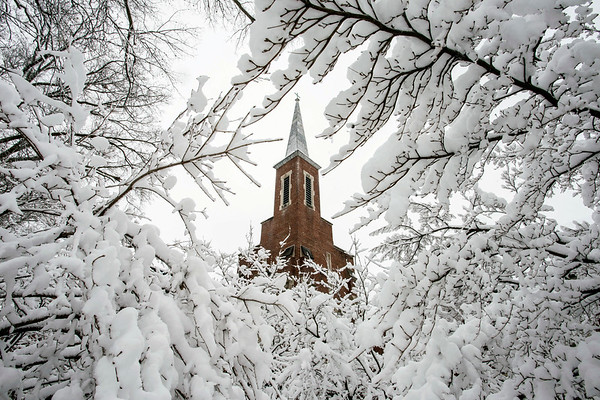 Mount Zion United Church of Christ found itself in the middle of a winter wonderland on Wednesday morning after unseasonable snow showers showed the city that Mother Nature wasn't quite ready for Spring to begin. 3/21/18