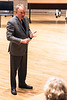 UofL interim president Dr. Greg Postel addressed faculty and staff on matters concerning House Bill 200 in the campus humanities building on Friday morning. 3/30/18