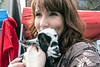 Laura Orullian snuggled with a baby goat during Bock Fest. 3/31/18