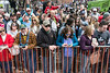 The crowd was deep along Clay Street in anticipation of another goat race during Bock Fest on Saturday. 3/31/18