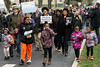 Participants of all ages marched along Capitol Avenue in Frankfort on Wednesday afternoon to mark the anniversary of the assassination of Dr. Martin Luther King in 1968. 4/4/18