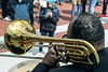 A jazz trio played for the crowd gathered on the steps of the state capitol Wednesday as the anniversary of the death of Martin Luther King was marked with featured singers and speakers. 4/4/18