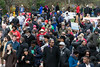 People gathered on the steps of the state capitol in Frankfort on Wednesday to hear speakers on the anniversary of the assassination of Dr. Martin Luther King. 4/4/18