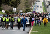 A march in Frankfort on Wednesday afternoon to mark the assassination of Martin Luther King drew a crowd of around 100 participants and featured several speakers on the state capitol steps. 4/4/18