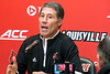 Former Wake Forest head coach Dino Gaudio was introduced as one of the UofL mens basketball assistant coaches on Monday afternoon. 4/9/18