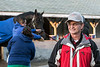 Hall of Fame jockey Pat Day can be found wandering the backside of Churchill Downs during morning workouts as part of an outreach program through the track's Christ Church Chapel. 4/11/18