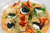 A 2018 Derby dish at the Brown Hotel features poached lobster, herb gnocchi, pea shoots, and American sturgeon caviar in a lobster cream. 4/11/18