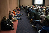 "Concealed Carry Expo attendees sat on the floor and stood in the wings for a seminar called ""countering the mass shooter threat"" on Saturday afternoon. 4/14/18"