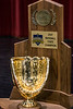 The 2017 state baseball champion trophy was on display Tuesday morning during a press conference at Pleasure Ridge Park High School as the southend school mourns the passing of legendary coach Bill Miller. 4/24/18