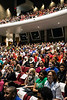 Students, teachers, and parents gathered in the Youth Performing Art School auditorium on Tuesday night for a JCPS Board meeting. 4/24/18