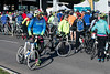 Cyclists line up for the Kentucky Derby Festival's Tour de Lou on Sunday in groups based on preferred course. The three scenic routes offered in the annual event include distances of 62, 35, and 20 miles. 4/29/18