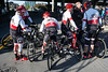 A riding team from Scheller's Fitness & Cycling prepare to embark on the 62-mile course in the Kentucky Derby Festival's Tour de Lou on Sunday morning. 4/29/18