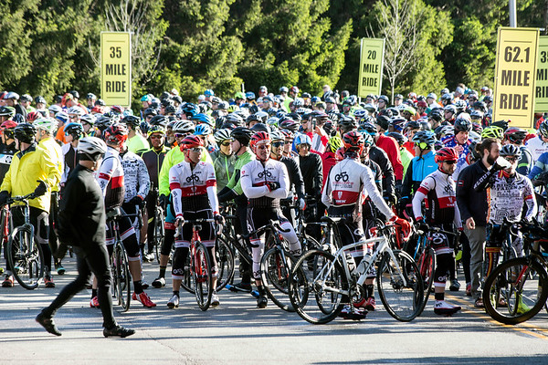 Around 1200 cyclists lined up along River Road near Waterfront Park on Sunday morning to take part in the non-competitive Kentucky Derby Festival's Tour de Lou. The open road riding tour features three courses varying in distance and showcases Louisville's Olmsted Park system and other historic landmarks. 4/29/18