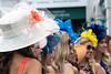 Splashes of color in the form of high fashion peppered the paddock area at Churchill Downs as stylish fans arrived in full force to Thurby. 5/3/18