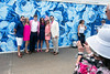 A new wall mural behind the paddock provides one of the first photo ops for guests upon entry to Churchill Downs. 5/3/18