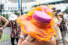 Spring colors dominated the scenery in a parade of stylish hats at Churchill Downs during Thurby. 5/3/18