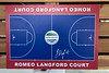 A rendering of what the Romeo Langford basketball court will look like upon completion was on display during the groundbreaking ceremony at Kevin Hammersmith Park on Friday. 5/11/18