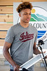 Romeo Langford accepted a proclamation from the Floyd County Board of Commissioners on Friday during a ceremony naming the basketball court at Kevin Hammersmith Park after the New Albany High legend. 5/11/18