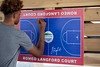 Romeo Langford autographed a rendering of the basketball court named after him in Kevin Hammersmith Park on Friday. 5/11/18