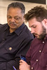 The Rev. Jesse Jackson granted Courier Journal reporter Thomas Novelly an exclusive interview on Tuesday night at the Louisville International Airport. 5/22/18