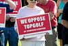 A group called Louisville Neighbors for Responsible Growth held a rally near the intersection of Oxmoor Woods Parkway & Lyndon Lane on Wednesday afternoon to voice opposition to the building of a TopGolf complex at Oxmoor Center. 5/23/18
