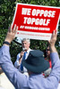 Zoning attorney Steve Porter answered legal questions during a rally of those opposed to the building of the TopGolf at Oxmoor Center. 5/23/18