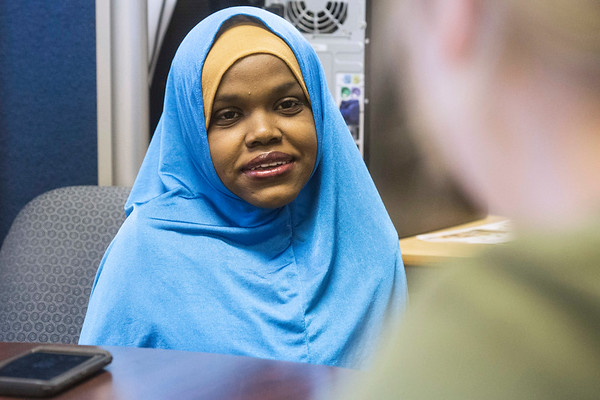 Iroquois High School senior Fardowsa Sharif described her journey as a student along with her goals to continue the education. 5/24/18