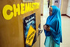 Iroquois High School senior Fardowsa Sharif prepares to enter a classroom for another final exam on Thursday morning. 5/24/18