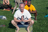 Louisville mayor Greg Fischer calms his mind and stretches his body with yoga during the biannual Hike, Bike & Paddle at Waterfont Park. 5/28/18