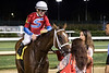 Bridaled Temper is shown some love from the fans after winning the 8th race at Churchill Downs on Saturday Night. 6/2/18