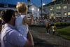 Bridaled Temper was paraded past fans of all ages before hitting the track and winning the 8th race at Churchill Downs on Saturday night. 6/2/18