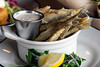 The fried smelts at Monnick Beer Company are served with caper mayo and parsley salad. 7/2/18