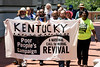 Members of the Poor People's Campaign marched on the Kentucky State Capitol Tuesday seeking entry with demands for Governor Bevin. 7/10/18