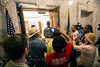 """State troopers stood at the door to Governor Bevin's office and informed members of the Poor People's Campaign that entry was by """"appointment only."""" 7/10/18"""