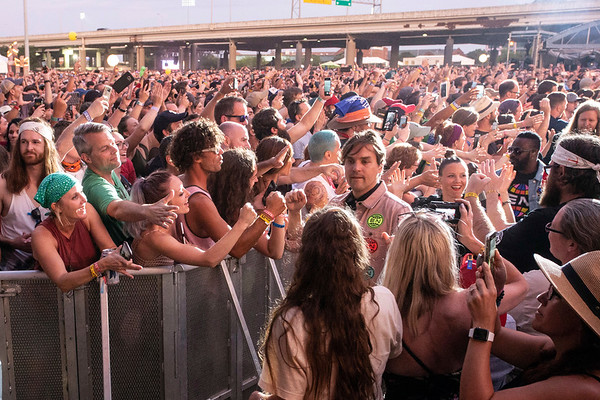 Arcade Fire entered through the crowd at Forecastle giving their fans an up close experience. 7/15/18