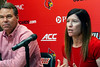 UofL AD Vince Tyra introduced Holly Aprile as the school's new softball coach on Wednesday at the campus Yum Center. 7/18/18