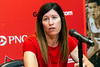 Holly Aprile fielded questions from the media during her introduction as UofL's new softball coach on Wednesday. 7/18/18