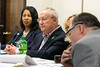 The Board of Assessment Appeals chairman Clem Russell listened to testimony during a Friday morning meeting. 7/27/18