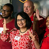 UofL president Dr. Neeli Bendapudi poses with some of the UofL students who take part in a tuition assistance program while working for UPS. 8/6/18