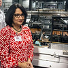 UofL president Dr. Neeli Bendapudi received a tour of the UPS Worldport Hub after handing out checks to several workers who receive tuition assistance on Monday. 8/6/18