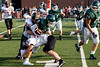 Trinity senior running back Luke McGuire fights for yardage against Ryle High during a scrimmage on Friday night. 8/10/18